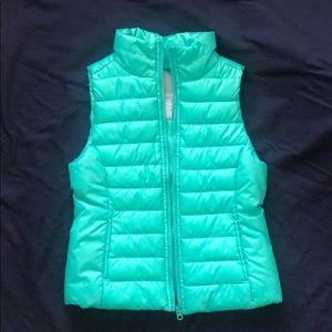 Aeropostale teal puffy vest